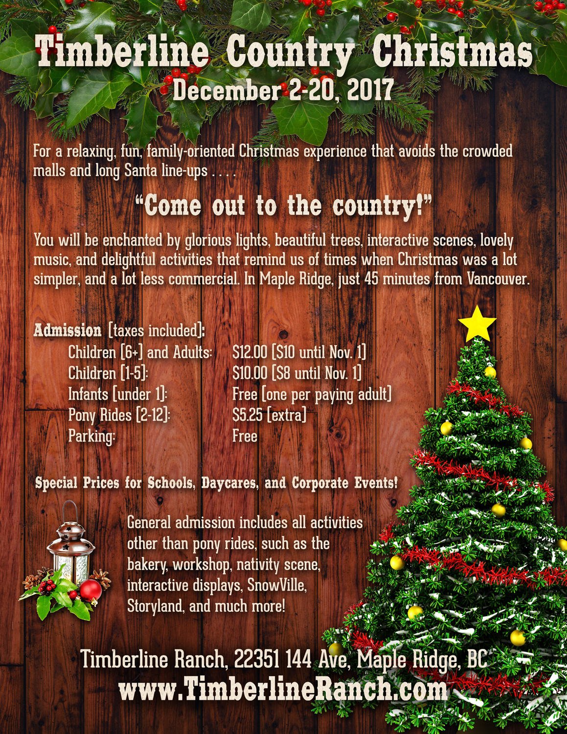 Leave The Busy City Behind And Enjoy Short Trip To A 73 Acre Horse Ranch In Maple Ridge That Has Been Transformed Into Christmas Wonderland
